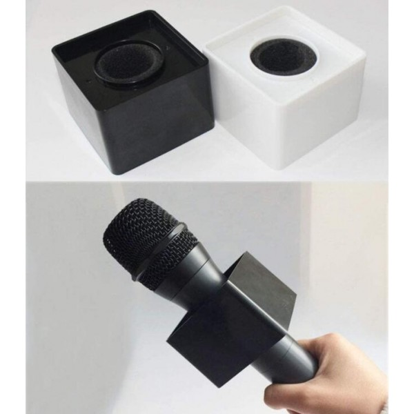 ABS Portable Banner Conference Interview Logo Cover Broadcast Square Cube microphone Flag Station