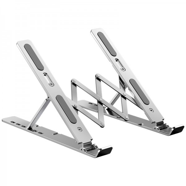 2021 Flexible 6 height adjustable aluminium foldable invisible laptop stand