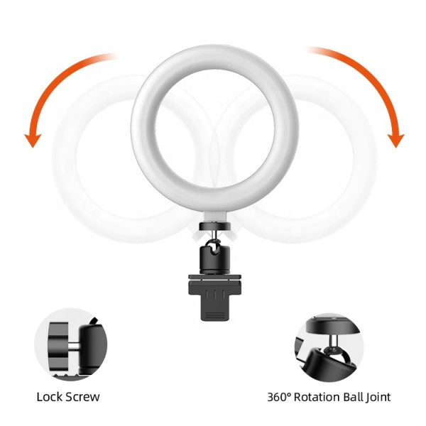 Portable fill light clip video conference beauty home teaching live broadcast ring fill light